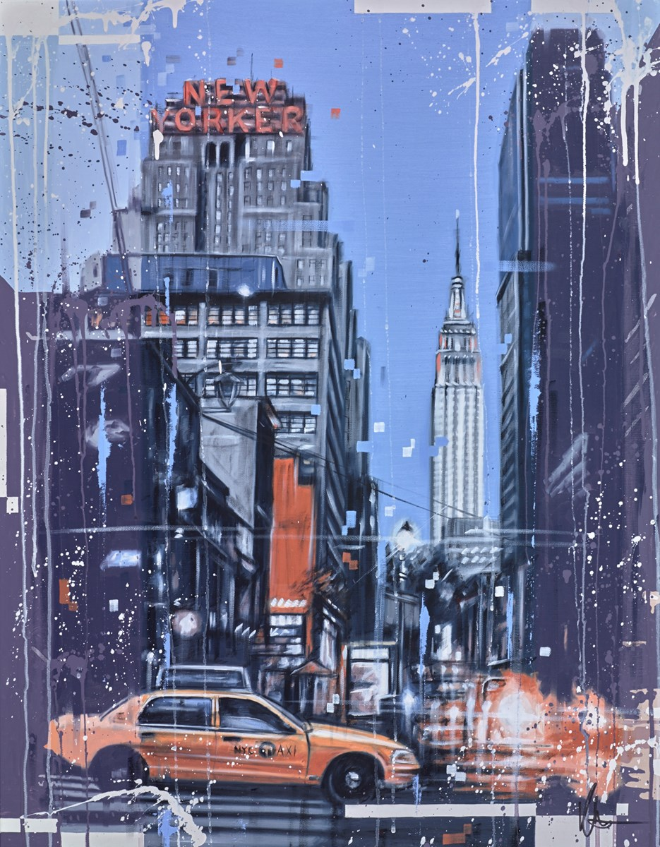 New Yorker by kris hardy -  sized 28x36 inches. Available from Whitewall Galleries